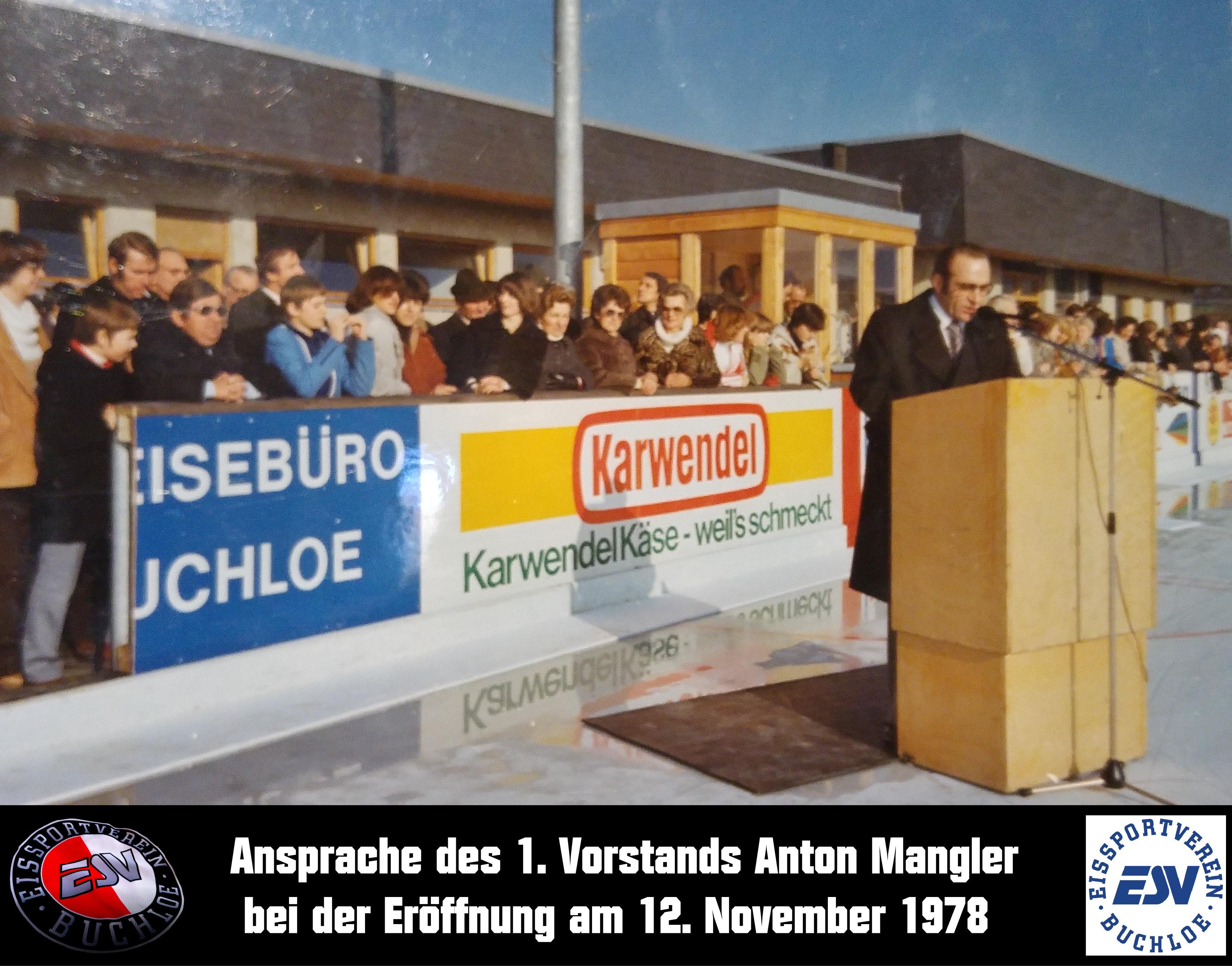 15 Ansprache des 1. Vorstands Anton Mangler bei der Eröffnung